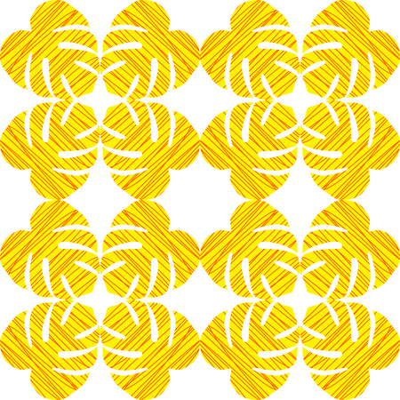stria: Isolated seamless texture with flat orange and yellow leaves. Monstera.Patterns for cloth Illustration