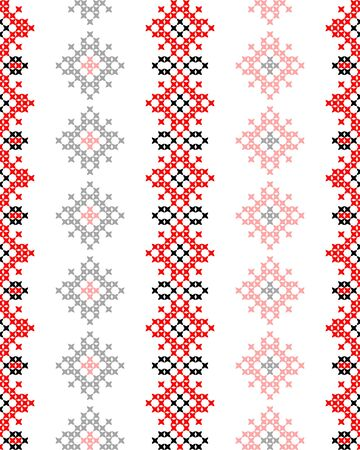 bedcover: Seamless texture with red and black abstract patterns for tablecloth.Embroidery.Cross stitch Illustration
