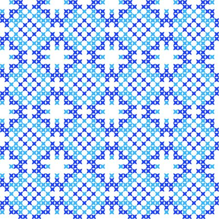 bedcover: Seamless isolated texture with abstract blue embroidered patterns for cloth. Embroidery. Cross stitch Illustration