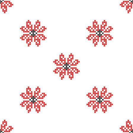 coverlet: Seamless embroidered texture of abstract flat patterns, cross-stitch, ornament for cloth