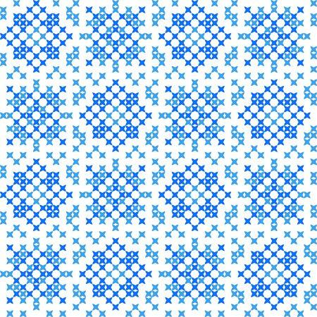 punto de cruz: Perfecta textura bordado de patrones abstractos planos, copos de nieve, punto de cruz, para adorno de tela