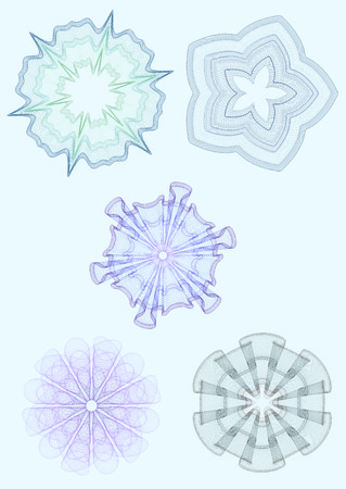 microprint: watermarks for certificate Illustration
