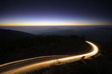 Driving at night photo