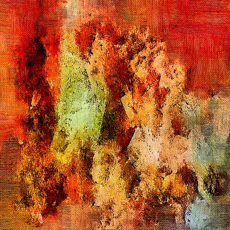 Abstract background. Psychedelic fractal, texture of brush strokes of colored paint of blurred lines and spots of different shapes and sizes. Stock Photo