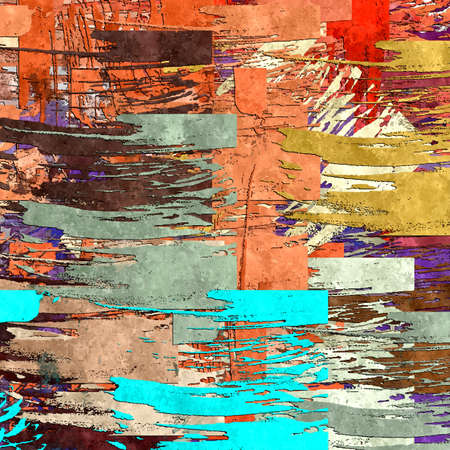 abstract background colored grunge texture chaotic brush strokes and paint brushes