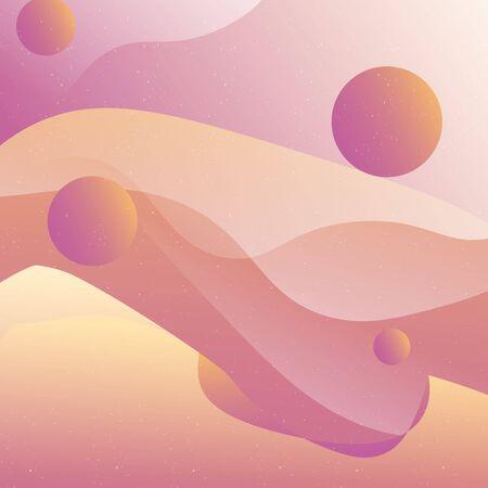 Abstract dessert fluid background vector design