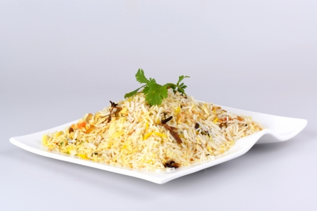Indian food biryani rice or briyani rice, fresh cooked, indian dish