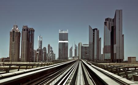 world's: Dubai Metro - as world s longest fully automated metro network Stock Photo