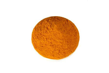 curcumin: Turmeric powder in white bowl Stock Photo