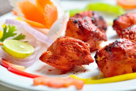 tandoori chicken: Chicken Tikka Stock Photo