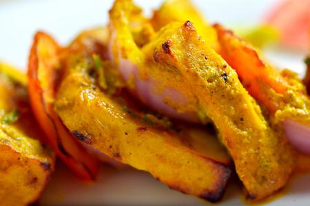 food and drinks: Cottage cheese or Paneer tikka