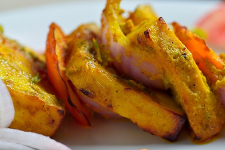 cottage cheese: Cottage cheese or Paneer tikka