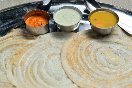 dosa: Dosai Dosa South Indian breakfast Stock Photo