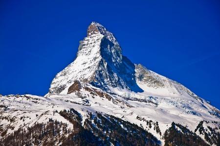 Matterhorn mountain of zermatt switzerland  photo