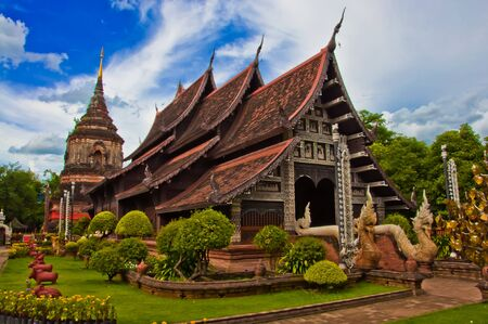 Temples in Chiang Mai, Thailand.  photo
