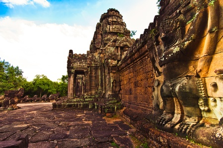 khan: Giant Garuda at Preah Khan temple,Angkor, Cambodia