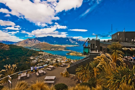 Queenstown downtown with the remarkable range  photo