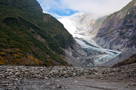 franz: Franz Josef Glacier in Westland National Park of New Zealand Stock Photo