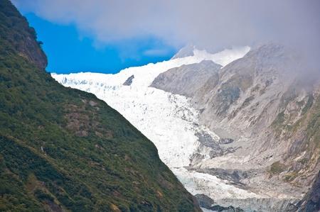 josef: Franz Josef Glacier in Westland National Park of New Zealand Stock Photo