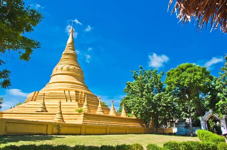 thai palace temple in burma style at Surasri Camp, Kanchanaburi, Thailand  photo