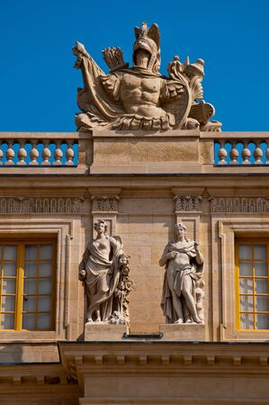 louis the rich heritage: A detail of the Palace of Versailles