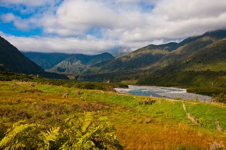 part of southern alps in New Zealand Stock Photo - 10518637