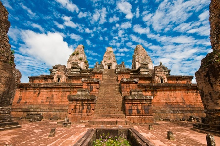 Ancient buddhist khmer temple in Angkor Wat, Cambodia. Pre Rup Prasat photo