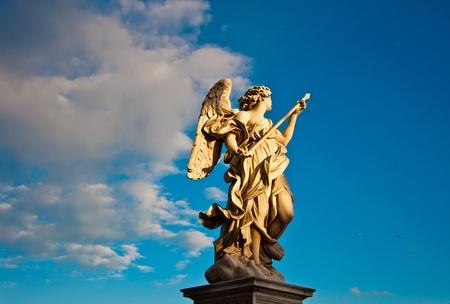Bernini's marmeren beeld van engel uit de Sant'Angelo Bridge in Rome, Italië