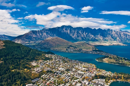 Queenstown downtown with the remarkable range