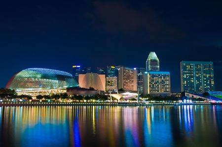 Esplanade Singapore at dusk