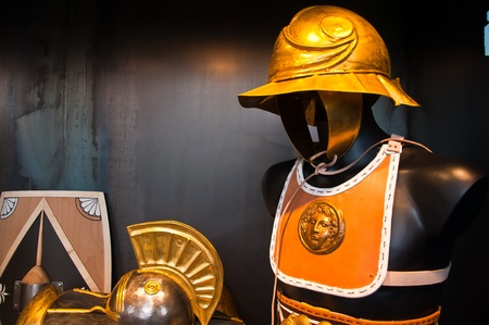 Ancient Roman soldier armor