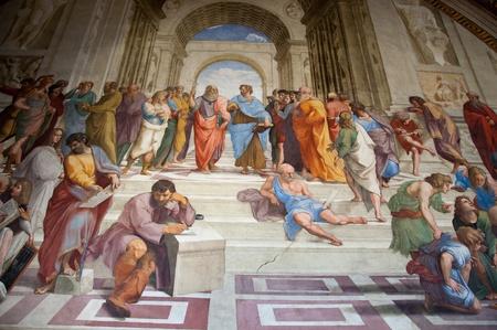 muurschildering in Vaticaan Redactioneel