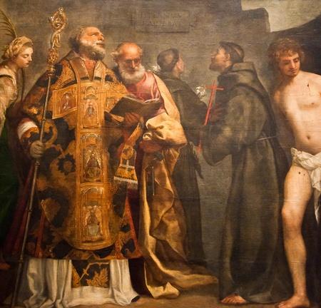 italian fresco: Mural in Vatican
