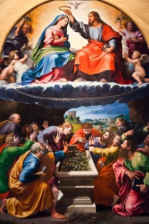 painting wall: Mural en el Vaticano