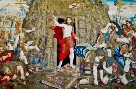 Muurschildering in Vaticaan