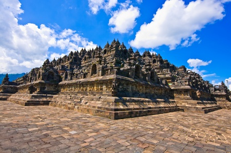 Borobudur temple near Yogyakarta on Java island, Indonesia photo