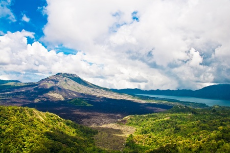 Landscape of Batur volcano on Bali island, Indonesia Stock Photo - 11749177