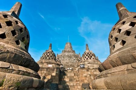 Borobudur temple located close to Jogjakarta in Java Indonesia photo