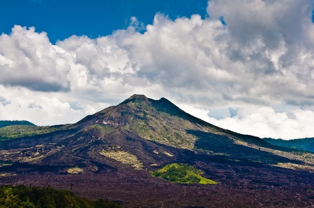 Landscape of Batur volcano on Bali island, Indonesia photo