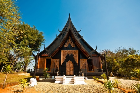 Lanna ancient architecture Traditional northern Thai style architecture with unique beauty.  photo