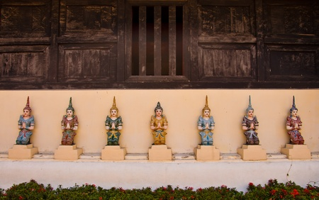 7 Angles Protect Church of Thai temple in north of Thailand photo