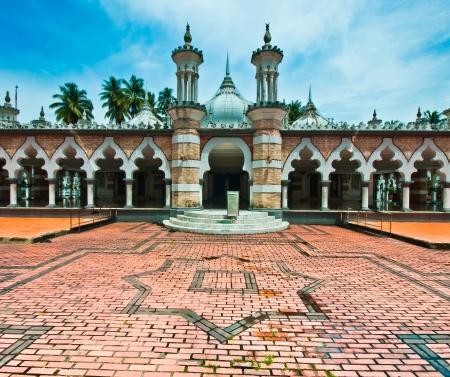 Jamek Mosque in Kuala Lumpur, Malaysia Stok Fotoğraf