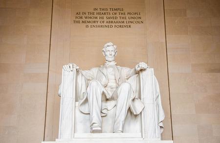 Het standbeeld van Abraham Lincoln in Lincoln Memorial Stockfoto