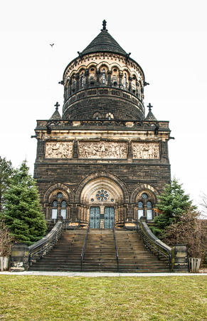 permanence: Garfield Memorial at Lakeview Cemetery  Cleveland, Ohio  James A  Garfield, the 20th President of the United States, was an Ohio native  Stock Photo
