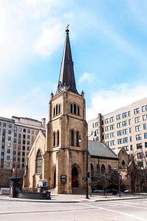 methodist: St. Paul African Methodist Episcopal Church - Madison, WISCONSIN Stock Photo