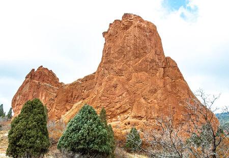 scrambling: Formazioni rocciose nel Giardino iconico degli Dei Archivio Fotografico