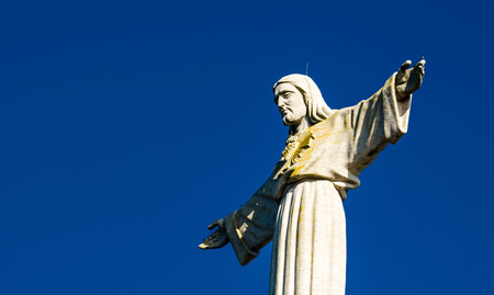 Jesus Christ monument in Lisbon - Portugal photo