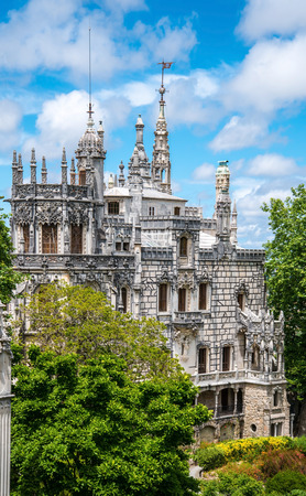 quinta: Palace of Quinta da Regaleira, an estate located near the historic center of Sintra, Portugal. Editorial