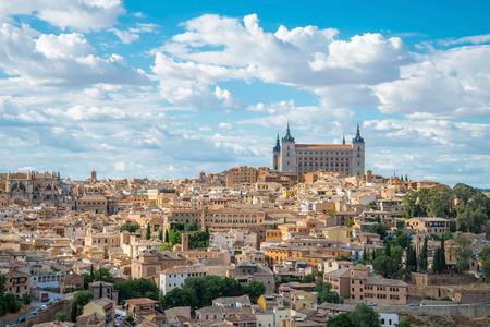 Panorama of the Alcazar of Toledo, near Madrid, Spain