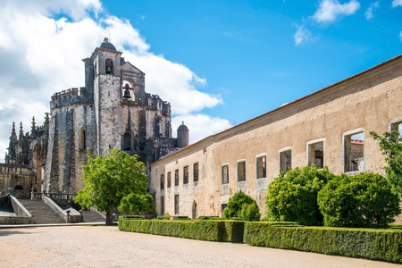 convent: Knights of the Templar Convents of Christ Tomar, Lisbon Portugal Stock Photo